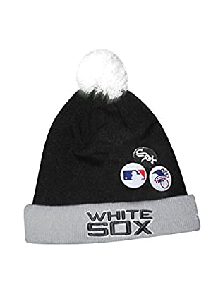 Adult MLB Chicago White Sox Beanie with Removable Pom Pom & Metal Buttons