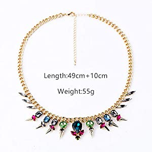 BAFOME Statement Necklace Bohemian Chunky Collar Choker Vintage Necklaces for Women Costume Jewelry for Women Girls