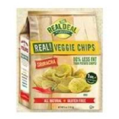 The Real Deal All Natural Snacks Sriracha Veggie Chips, 6 Ounce -- 12 Per Case.