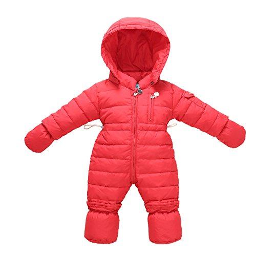 bebe-filles-barboteuse-combinaisons-de-neige-et-gants-footies-hiver-bodys-rouge-0-3-mois