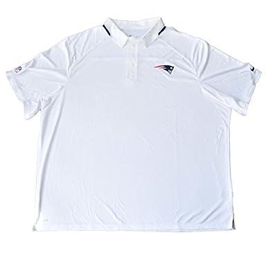 Nike Men's Elite Coaches NFL NE Patriots Football Polo, White, 4XL, 537030 100