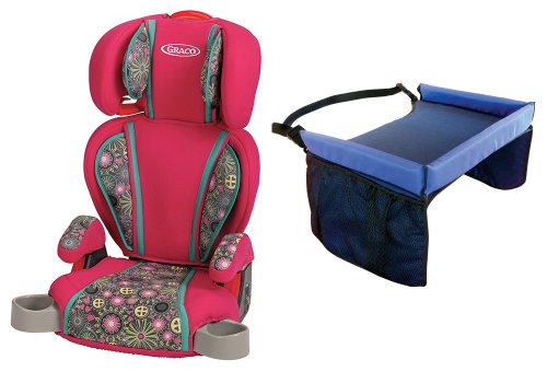 Graco Highback Turbobooster Booster Car Seat With Snack Tray, Ladessa front-900134