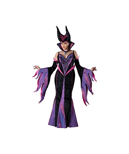 Evil Delight Maleficent Sleeping Beauty Witch Womens Plus size Costume