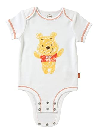 "Disney Winnie the Pooh ""Hug Me"" Cuddly Bodysuit, White, 0-3 Months"