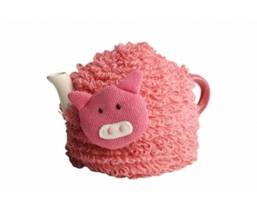 Novelty Farmyard Crazy Peter The Pig, Knitted Acrylic, Tea Cosy