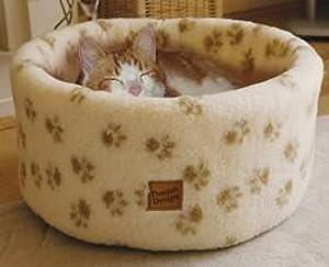 Danish Design Pet Products Cat Cosy Fleece Bed Cream Medium 50cm