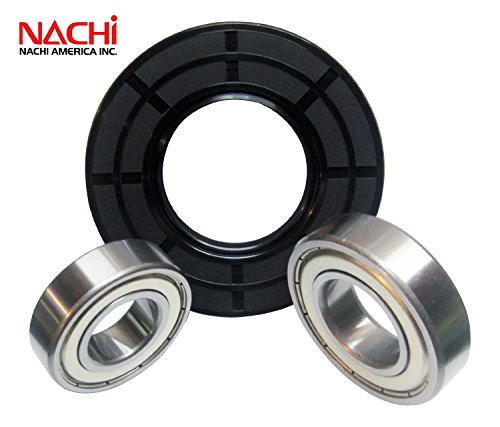 """Nachi High Quality Front Load Amana Washer Tub Bearing And Seal Kit Fits Tub W10253864 (5 Year Replacement Warranty And Full Hd """"How To"""" Video And Unlimited Tech Support Included)"""