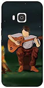 The Racoon Lean guitarist hard plastic printed back case / cover for HTC One M9