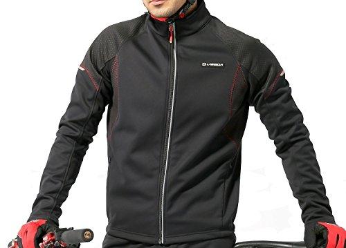 4Ucycling-Herren-Fahrradjacke-Winddicht-Sport-Radjacke-Fleecejacke-Radsport-Outdoorjacken-3-Lagen-Jacke