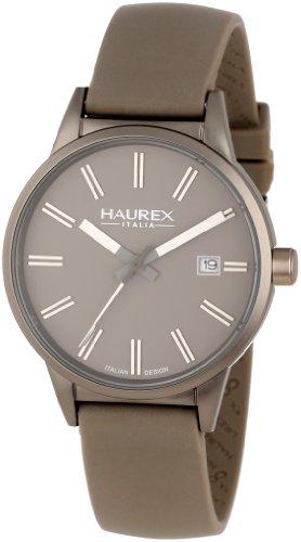 Haurex Italy Women's 6K378DGG Compact Dark Grey Aluminum Case Grey Dial Date Watch