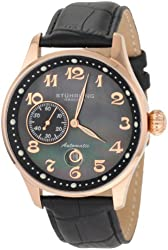 Stuhrling Original Men's 148A.33451 Classic Lineage Grand Automatic Mother-Of-Pearl Date Watch