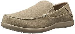 crocs Men\'s Santa Cruz 2 Luxe M Slip-On Loafer, Khaki/Khaki, 10 M US