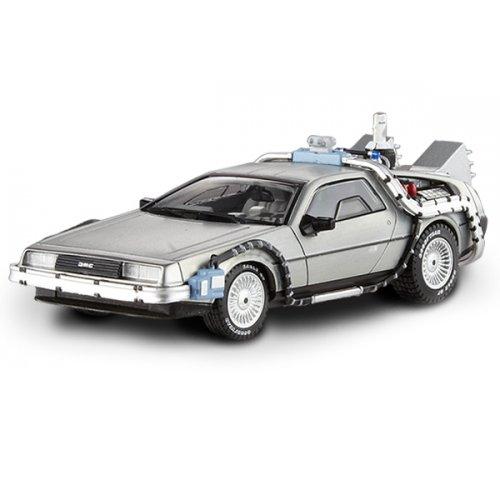 BTTF DeLorean w/ Mr. Fusion Hot Wheels Elite 1:43 Scale
