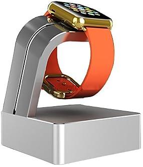 Navitech London Apple Watch 用チャージャースタンド/チャージドック/充電スタンド (シルバー)