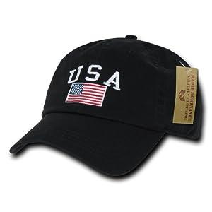 Rapiddominance Polo Style USA Cap, Black