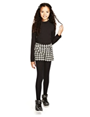 2 Piece Houndstooth Shorts & Roll Neck Top Outfit