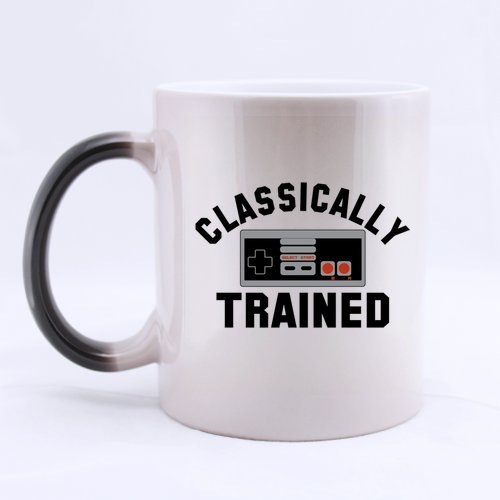 Funny Coffee Mug - Best Cool Classically Trained Morphing Coffee Mug Or Tea Cup - 11 Ounces