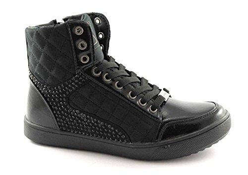 LAURA BIAGIOTTI 1231 nero scarpe donna sneakers zip zeppa interna