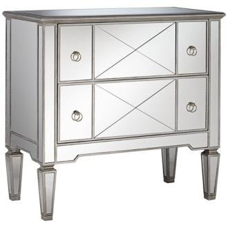 Mackenzie Chrome 2-Drawer 34-Inch-H Mirrored Accent Chest front-1046055