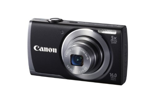 Canon PowerShot A3500 IS Camera - Black (16MP, 28mm Wide Angle, 5x Optical Zoom) 3.0 inch LCD