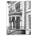 Grabado antiguo (1886) - Litografía - Casa Del Sr. Conde De Belloch (24.5x17.5), Aleu, J.