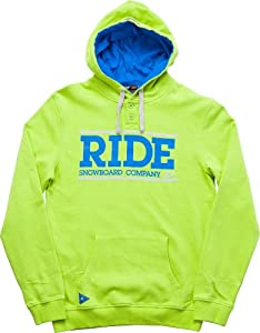 Ride Logo Henley Pullover 2014, Glow, M