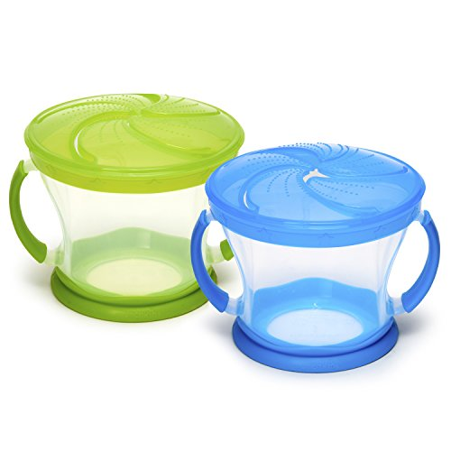 Munchkin 2 Piece Snack Catcher, Blue/Green