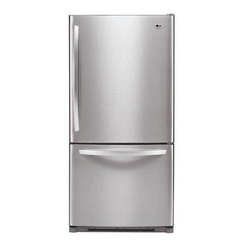 LG : LDC22720ST 22.4 cu. ft. Bottom-Freezer Refrigerator - Stainless Steel