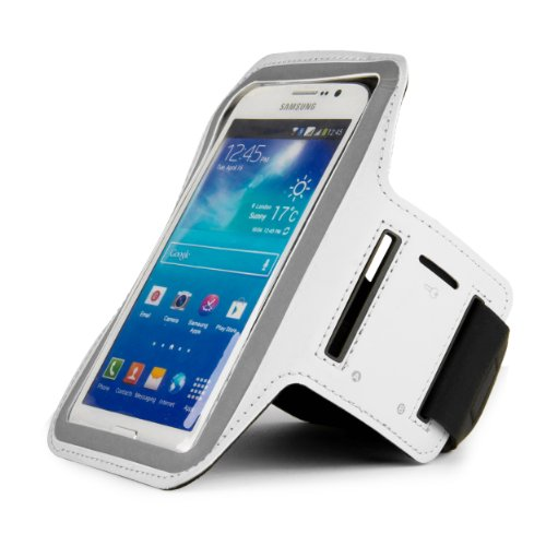 Sumaclife Hybrid Sports Armband W/ Key Slot For Htc One E8 / One Max // One M8 / Butterfly S / Desire 816 / Desire 610 (White)