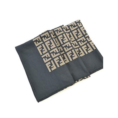(フェンディ) FENDI スカーフ FXT662 JVM F0QA1 116X156 ブラック 並行輸入品