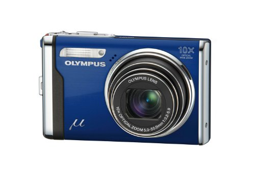 Olympus Mju 9000 Compact Digital Camera - Royal Blue (12MP, 10x Optical Zoom) 2.7 inch LCD