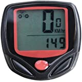 Goliton® Wired Bike Bicycle Computer LCD Odometer Speedometer with 14 Function - Black