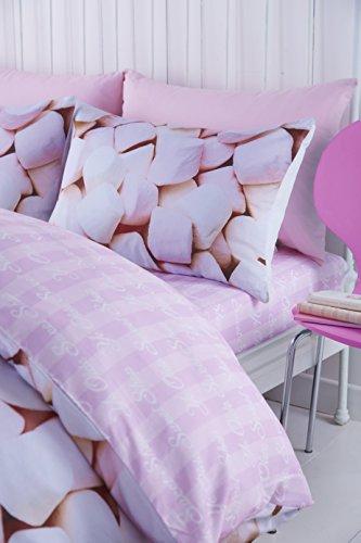 Catherine Lansfield - Gioca singoli marshmallows progettazione trapunta, rosa