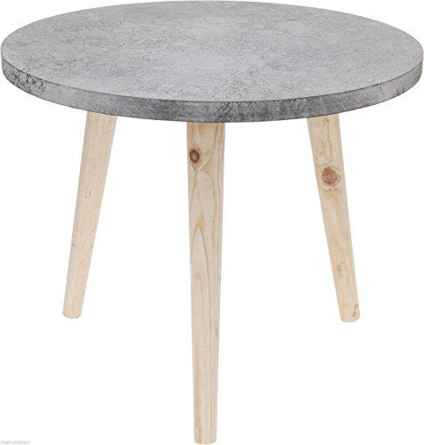 Beistelltisch-Tisch-Betonoptik-Nachttisch-Ablage-GrauBraun-39x325-cm