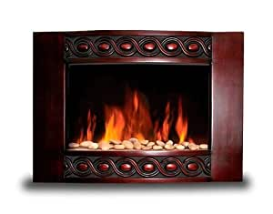 New 1500w Deluxe Wood Wall Mount Electric Fireplace Space Heater 1500 Watts Home