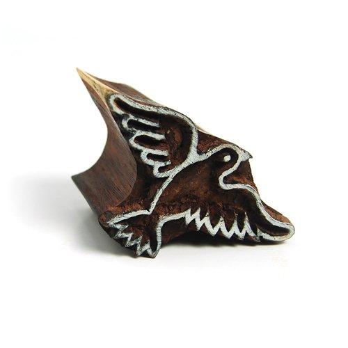 International Arrivals Blockwallah Wooden Stamp, Peaceful Dove
