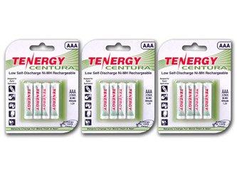 Tenergy Centura Aaa Low Self-Discharge Lsd Nimh Rechargeable Batteries, 3 Cards 12Xaaa