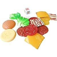 Magideal Kids Pretend Play Kitchen Food Toys Plastic Stacking Hamburger Balance Toys