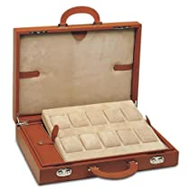 10-Slot Large Watch Leather Attache Case by Underwood