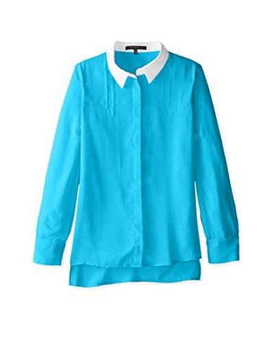 Trend Tahari Women's Button-Down Solid Top