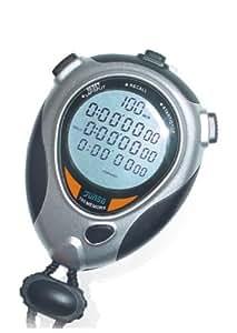 Digital Stopwatch(7064) - 4 Line Big LCD Panel - 100 Lap Split Memory - 1 Year Warranty