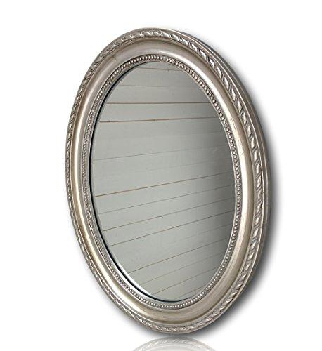 Wandspiegel-oval-in-silber-antik-mit-Patina-37-x-47cm-Spiegel-barock-aus-Holz-im-Landhausstil-als-Badspiegel-Schminkspiegel-bzw-Frisierspiegel-fr-das-Landhaus