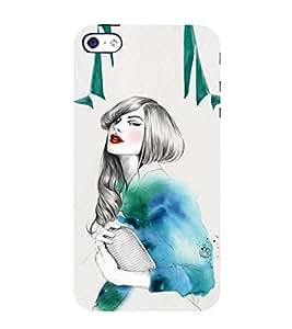 EPICCASE Sweet girl Mobile Back Case Cover For Apple iPhone 5s (Designer Case)