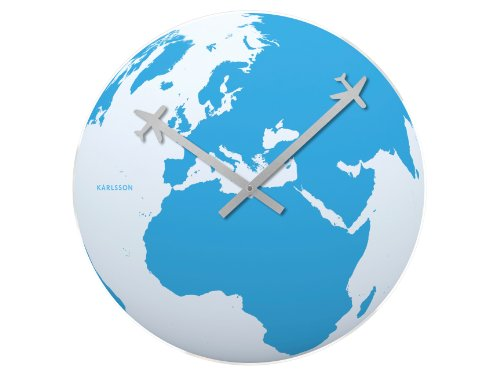 Present Time - Karlsson Wall Clock Around The World Glass