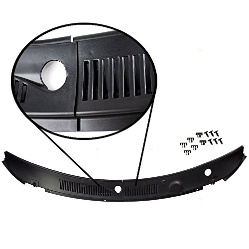 IMPROVED 2-Piece Windshield Wiper Cowl Vent Grille Panel Hood Assembly OEM Replacement for Ford 3R3Z6302228AAA (2000 Ford Mustang Window Vents compare prices)