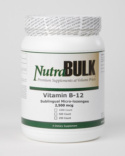 Nutrabulk Vitamin B-12 2500Mcg Sublingual Tablets 250 Count