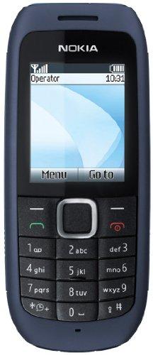 Nokia 1616 Handy (UKW-Radio, Farbdisplay, Flashlight, ohne Vertrag) ohne Branding, kein Simlock, dark blue
