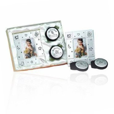 Baby Gift Idea LV4253 la Vie 3-PC Baby Picture Frame and Tooth-Hair Keepsake Gift Set