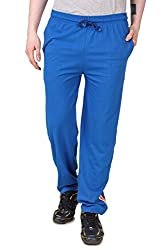Aventura Outfitters Single Jersey Trackpant Royal Blue With Two Orange Stripe & Two White Piping - M (AOSJTP503-M)