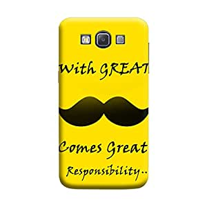 Desicase Samsung A3 With Great Comes Great Responsibilities 3D Matte Finishing Printed Designer Hard Back Case Cover (Yellow)